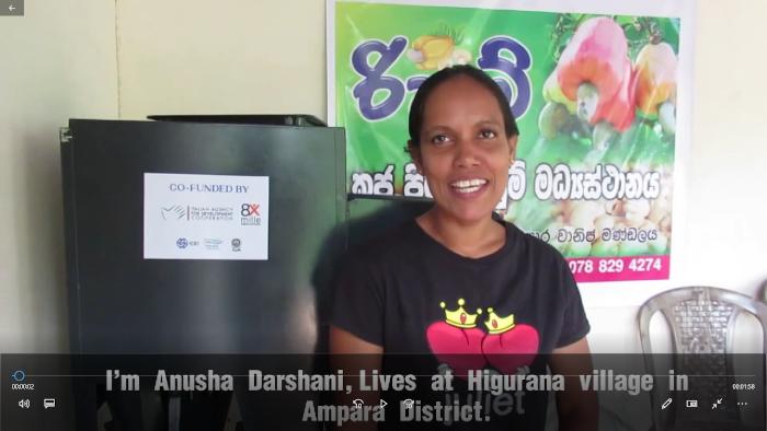 Anusha ICEI Sri Lanka micro imprenditrice